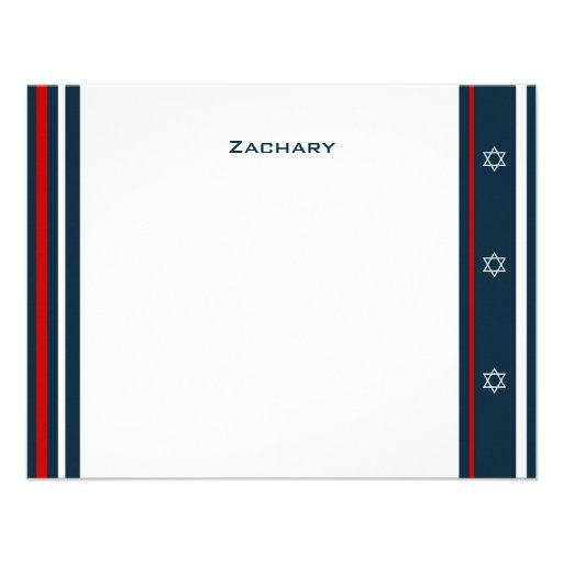 Personalized yankees bar mitzvah invitations custominvitations4u yankees baseball bar mitzvah thank you custom announcements stopboris Gallery
