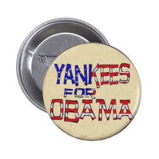 Yankees for Obama Button