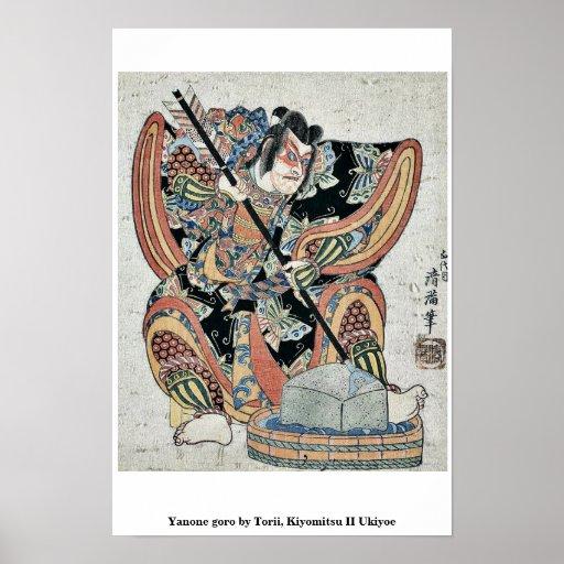 Yanone goro by Torii, Kiyomitsu II Ukiyoe Print