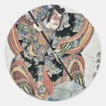 Yanone goro by Torii, Kiyomitsu II Ukiyoe Sticker