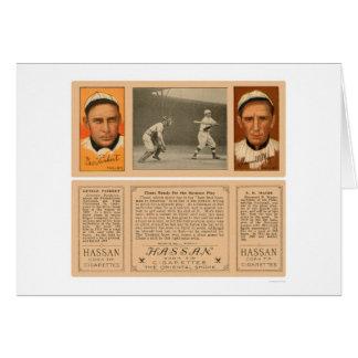 Yanqui en el béisbol 1912 de Phillies del palo Tarjeta De Felicitación