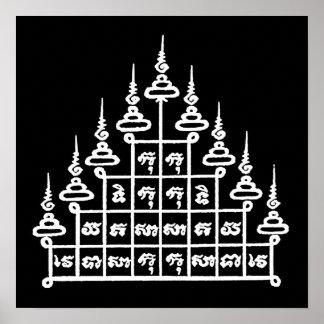 YANT BUDDHA ASIAN ART DESIGNS POSTER