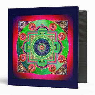 YANTRA - the great wheel - green pink 3 Ring Binder
