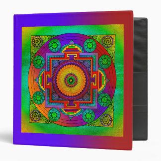 YANTRA - the great wheel - green violet 3 Ring Binder