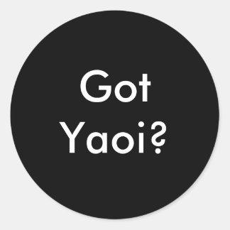¿Yaoi conseguido? negro redondo del pegatina