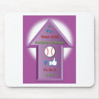 YAP Baseball 3D arrow w background.ai Mouse Pad