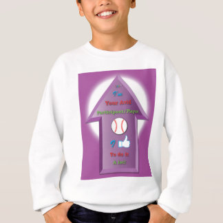 YAP Baseball 3D arrow w background.ai Sweatshirt