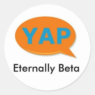 YAP Eternally Beta large sticker