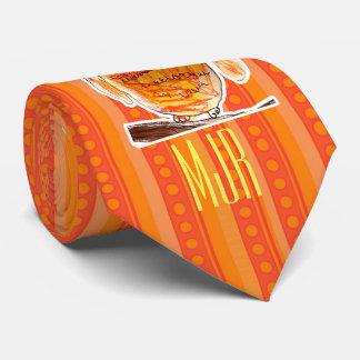 YAP | Monogram Designer Owl | Youth Art Project Neck Tie
