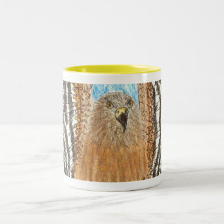 YAP | Raptor in Flight | Youth Art Project Two-Tone Coffee Mug