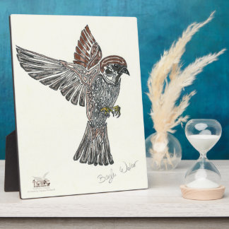YAP   Tribal Sparrowhawk   Youth Art Project Photo Plaques