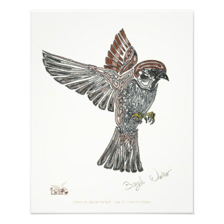 YAP | Tribal Sparrowhawk | Youth Art Project Photo Print