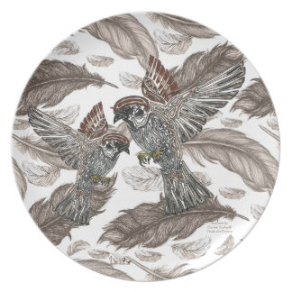 YAP | Tribal Sparrowhawk | Youth Art Project Plate