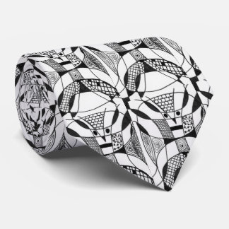 """""""Yappy Dogs"""" Abstract Design Tie"""