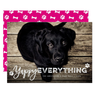 Yappy Everything Dog Lover Cute Holiday Photo Card