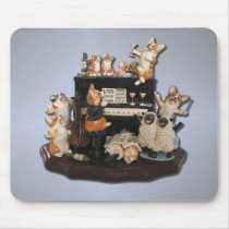 """Yappy Hour"" Corgi & Sheep Mousepad"