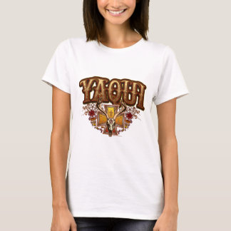 Yaqui Deer Skull design Ladies basic t-shirt
