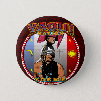 Yaqui Yoeme Deer Dancer design Button