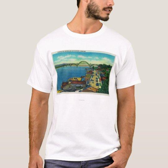 Yaquina Bay Bridge and waterfront Newport, OR T-Shirt