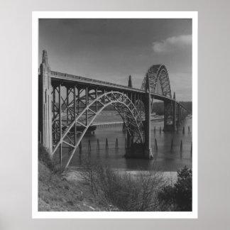 Yaquina Bay Bridge at Newport, Oregon Vintage Poster