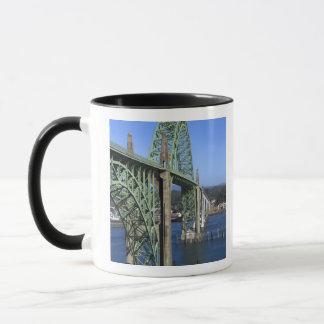 Yaquina Bay Bridge spanning the Yaquina Bay Mug