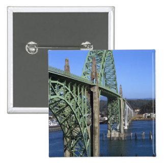 Yaquina Bay Bridge spanning the Yaquina Bay Pinback Button