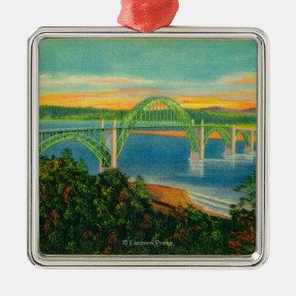 Yaquina Bay BridgeNewport, OR Metal Ornament