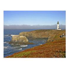 Yaquina Head Lighthouse at Newport Oregon Postcard at Zazzle