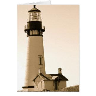 Yaquina Head Lighthouse Card