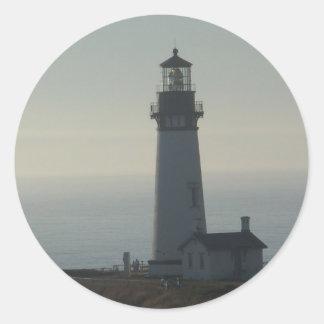 Yaquina Head Lighthouse Classic Round Sticker