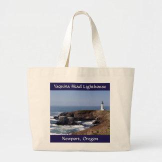 Yaquina Head Lighthouse Jumbo Canvas Tote Bag