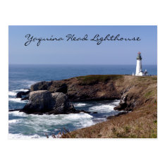 Yaquina Head Lighthouse Oregon Postcard at Zazzle