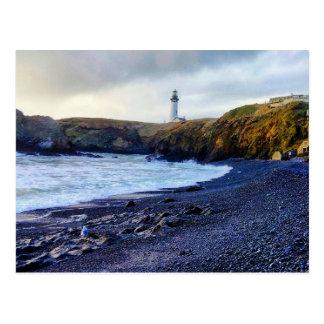 Yaquina head Oregon lighthouse postcard