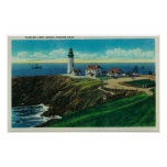 Yaquina Lighthouse and Yaquina HeadYaquina, OR Poster
