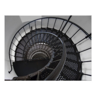 Yaquina Lighthouse Stairway - Oregon Coast Poster