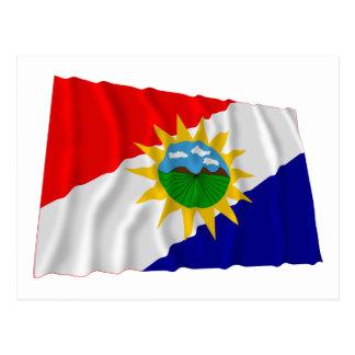 Yaracuy Waving Flag Postcard