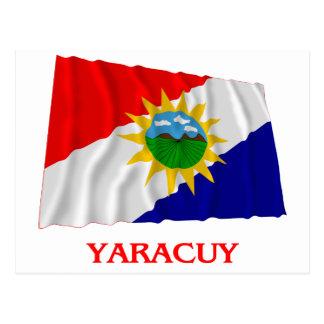 Yaracuy Waving Flag with Name Postcard