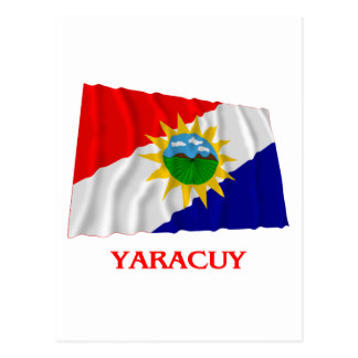 Yaracuy Waving Flag with Name Postcard