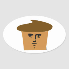 Yaranaika Muffin Oval Sticker