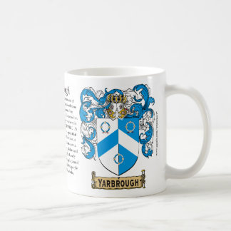 Yarbrough the Origin the Meaning and the Crest M Mug