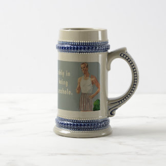 yard a-hole beer mug