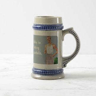 yard a-hole beer mug mugs