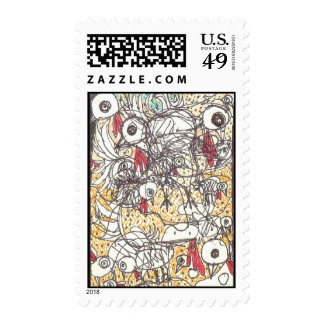 Yard Birds Postage Stamp