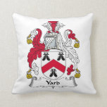 Yard Family Crest Throw Pillow