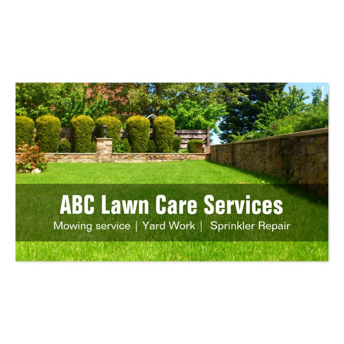 Green Grass Lawn Care Nebraska : Yard lawn care gardening landscaping green grass business card