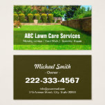 "Yard Lawn Care Gardening Landscaping Green Grass Business Card<br><div class=""desc"">Yard Lawn Care Gardening Landscaping - Green Field Grass Business Card Template for you. All text style,  colors,  sizes and the background color can be modified to fit your needs. If you need any customization,  please contact me.</div>"