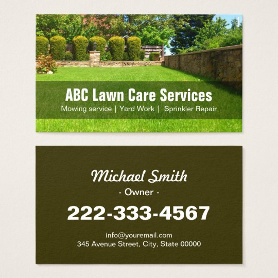 Yard lawn care gardening landscaping green grass business card yard lawn care gardening landscaping green grass business card reheart Images