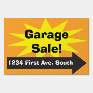 Yard Lawn Tag Garage Rummage Lawn Estate Sale Sign