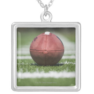 Yard Line Marker Silver Plated Necklace