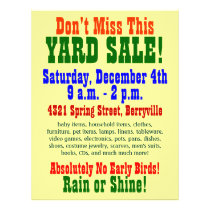 "Yard Sale 8.5"" X 11"" Flyer"